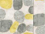 "Yellow Gray Bathroom Rugs Chesapeake Pebbles Bath Rug Set 21""x34"" & 24""x40"" New Willow"