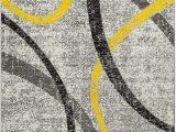 Yellow Grey Black area Rug Amazon Oxford Collection Style 21 Yellow Grey Black