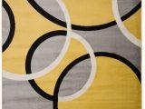 Yellow Grey Black area Rug Dibella Geometric Yellow area Rug