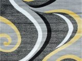 Yellow Grey Black area Rug Gray and Black and Yellow
