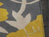 Yellow Grey Black area Rug Gray Yellow area Rug