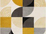 Yellow Grey Black area Rug Margot Geometric Gold Gray Black area Rug