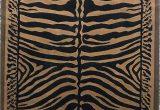 Zebra Print area Rug 8×10 Kingdom Zebra Skin Print area Rug Black & Gold Design D142 8 Feet X 10 Feet