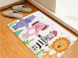 Zebra Print Bath Rug Lion Elephant Zebra Print Kids Bath Rug