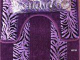 Zebra Print Bath Rugs Purple Zebra Print Rug